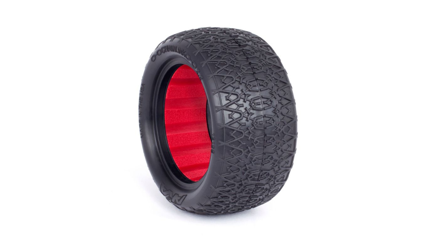 Chain Link 2.2 Rear Tires, Super Soft with Red Insert: Buggy