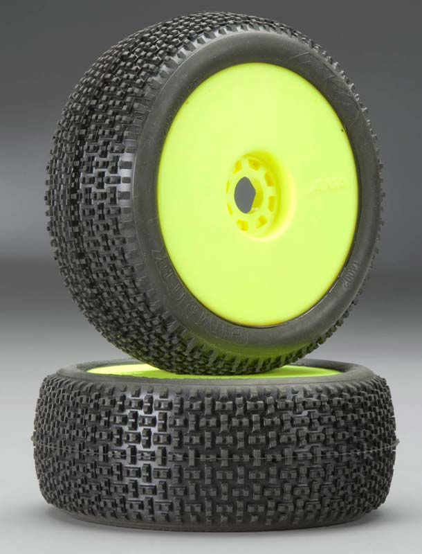 1/8 Buggy CITYBLOCK Super Soft PreMnt Tire Yel Wheel(2)