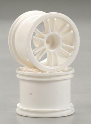 Rear Spoke Wheel White 18B (2)