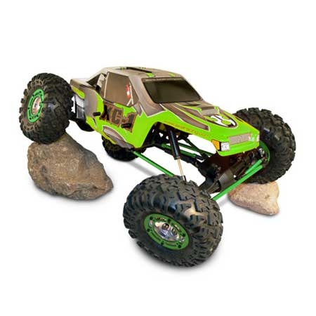 Axial Crawler Body .040 Pre-printed, Green: XC-1, AX10