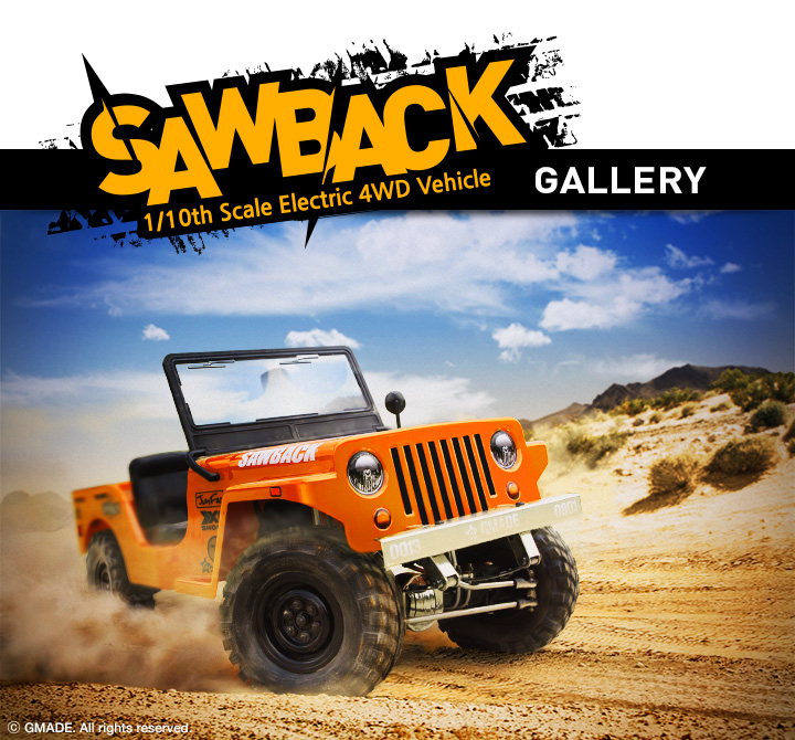 Sawback 1/10 4WD Electric Vehicle