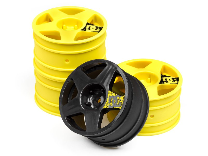 WR8 Tarmac Weel Set Yellow 3pcs/Gunmetal 1pc