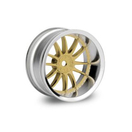 Work XSA 02C 26mm Wheel (2) Chrome/Gold 9mm Offset