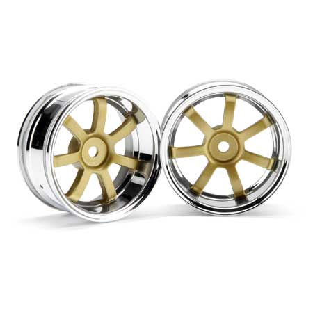 RaysGram 57S ProChrome/Gold Wheel 6mmOffset(2):RS4