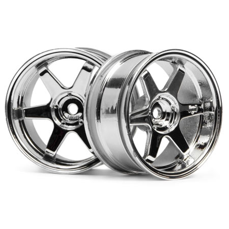 TE37 Wheel 26mm Chrome 6mm Offset