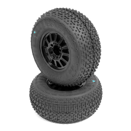 R Goose Bumps Tire, Blk Wheel, Green:SLH, Blitz(2)
