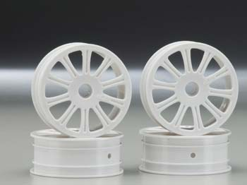 Rulux 1/10 RC10B4 Front Wheel White (4)
