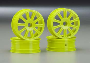 Rulux 1/10 RC10B4 Front Wheel Yellow (4)