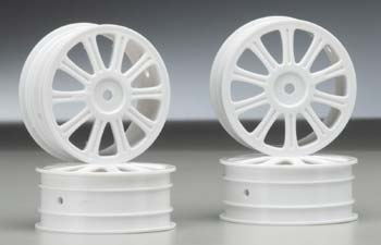 Rulux 1/10 B44 Front Wheel White (4)