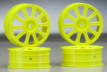 Rulux 1/10 B44 Front Wheel Yellow (4)