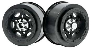 Tense Slash Rear/Slash 4x4 Fr/Re Wheels Blk