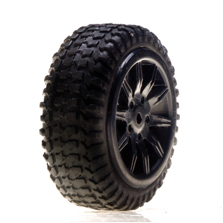 Tires, Mounted, Black: Micro Rally(4)