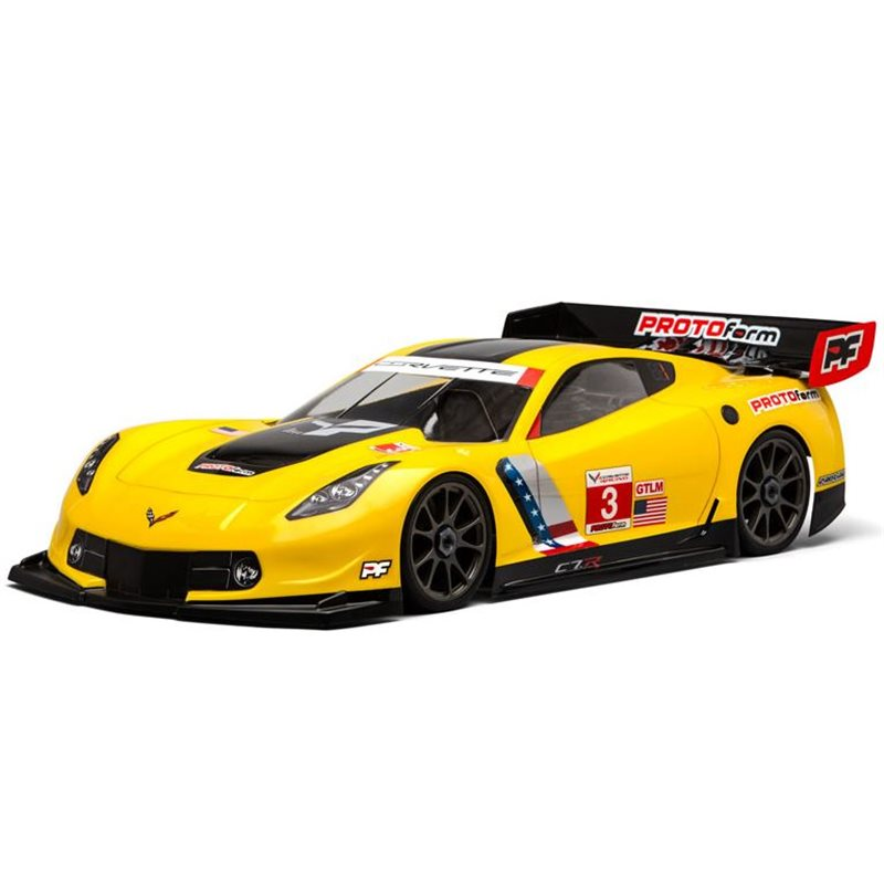 1/8 Chevy Corvette C7.R Clear Body