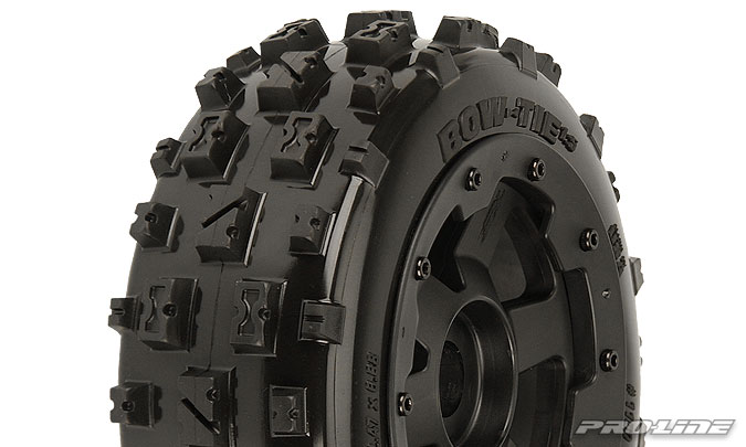 Bow-Tie 5B Front Tires Mnt Blk/Blk Desperado Wheel