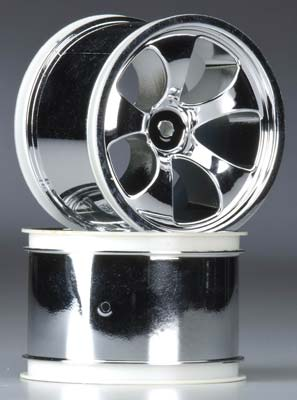 Torque 30 Series Rear Wheel, Chrome: Electric 1Rustler,Stampede