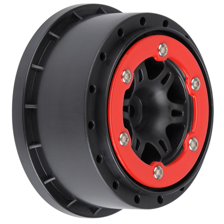Sixer 2.2/3.0 Red/Black Bead-Loc R Wheels(2):Slash
