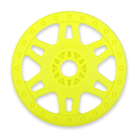 1/8 Fr, R Split Six V2 Yellow Wheels (4): Buggy