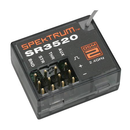 SR3520 DSM2 3-Channel Micro Race Receiver