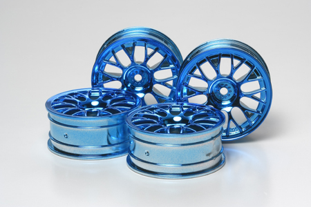 Blue Plated MN Mesh Wheel 4pcs