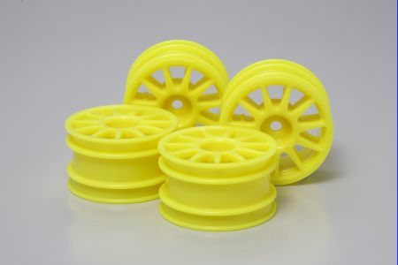 M-Chassis 11-S Wheel Flu Yellow 4pcs
