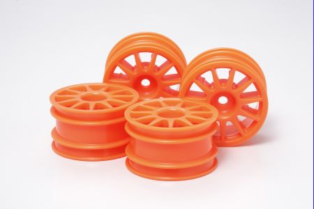 M-Chassis 11-S Wheel Flu Orange 4pcs
