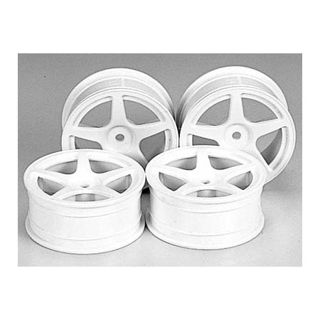 Spoke Wheels (4), Med-Narrow, White