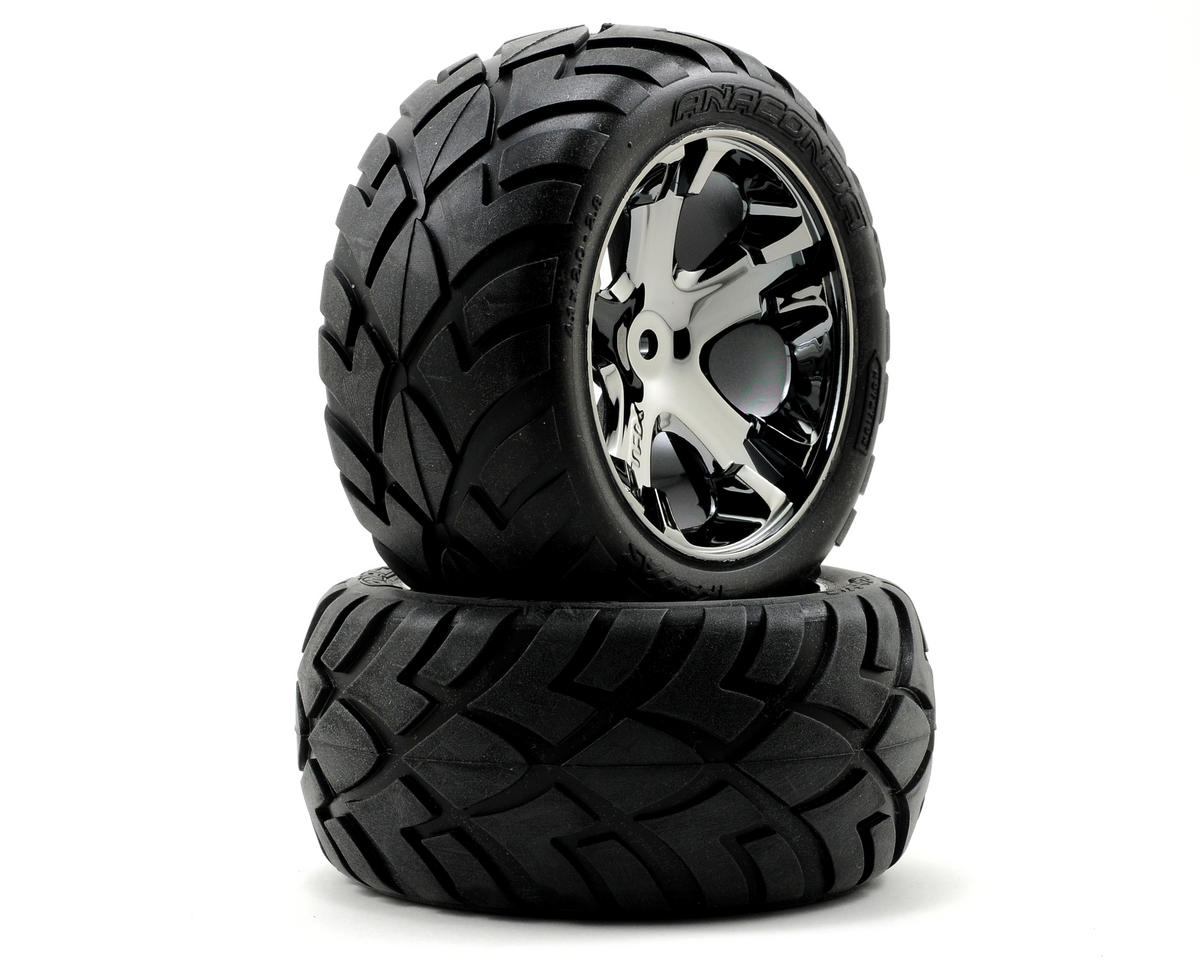 Tires & Wheels Assembled RR Black Chrome
