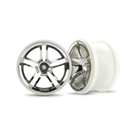 "Rear Twin Spoke 2.8"" Chrome Wheels (2):Electric"