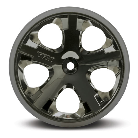 "All-Star 2.8"" Black Chrome Wheels (2) Front - Nitro"