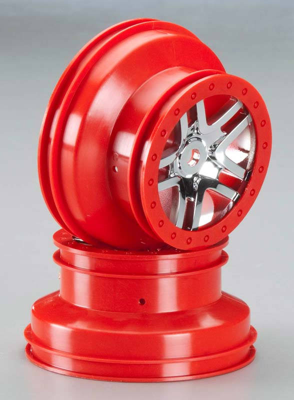 SCT Split-Spoke Red Beadlock Fr/Re (2)