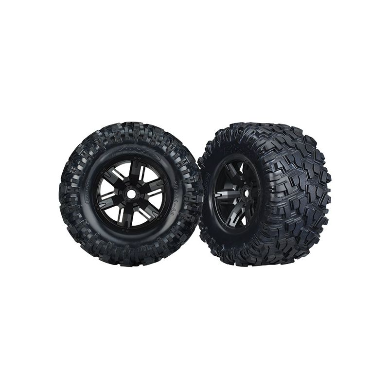 Tires/Wheels Assembled Glued X-Maxx (2)