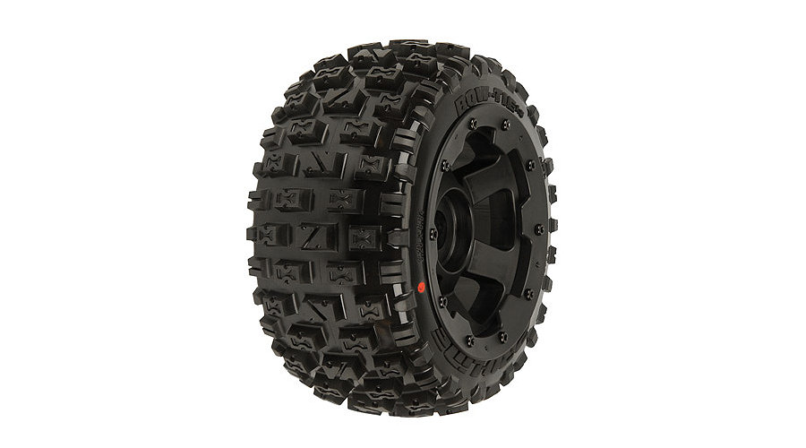 Bow-Tie 5B Rear Tires Mnt Blk/Blk Desperado Wheel