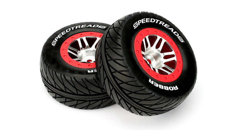SpeedTreads Robber SC Tires Mounted:Slash Rear, Slash 4x4 Front/